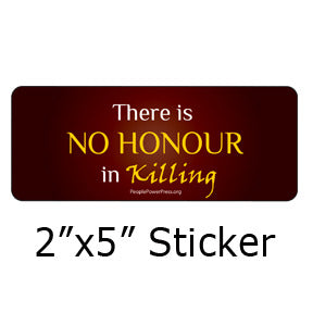 There Is No Honour in Killing