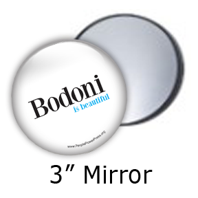 bodoni custom button design