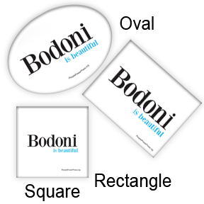 bodoni buttons
