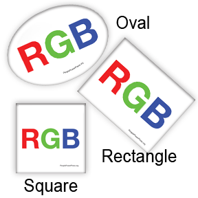 RGB Square, Oval, Rectangle, Design