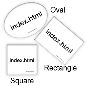 index.html oval, square, rectangle button design