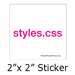 styles.css sticker design