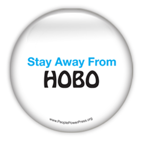 Stay Away From Hobo - Graphic Design