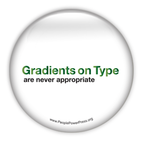 Font Gradients are Inappropriate - Graphic Design