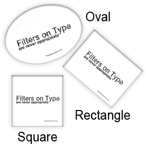Filtered Type is Inappropriate  - Graphic Design Pinback Buttons