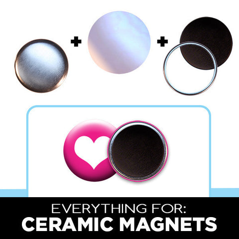 "1"" ceramic magnets for diy fridge magnets"