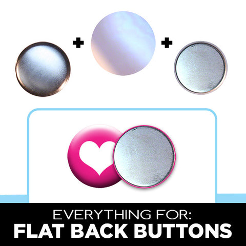 Flat Back Buttons for Crafts & Games