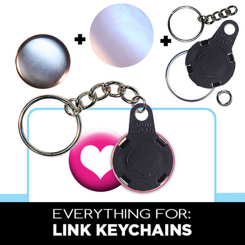 1 inch supplies for chain link keychains