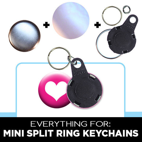 1 inch mini split ring keychain parts