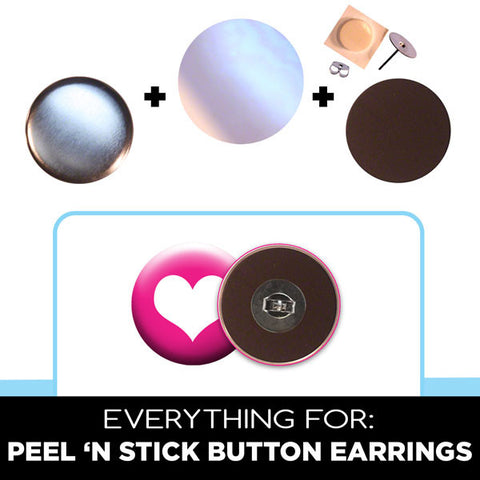 "1"" button parts for diy earrings"