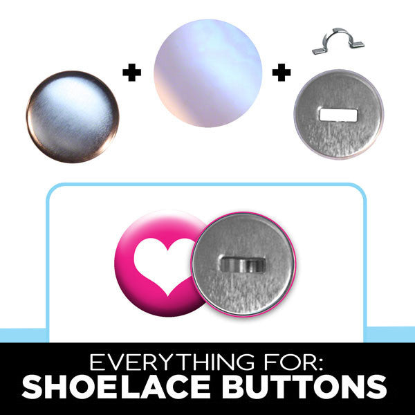 "1"" Everything to make Sneaker Buttons with Shoelace Clips from People Power Press"