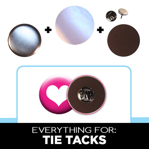 "1"" tie tacks button parts"