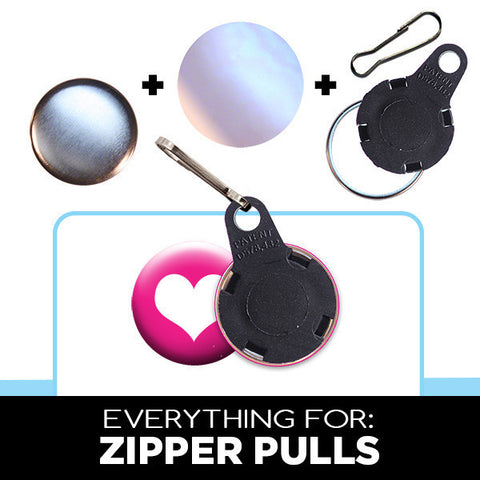 1 inch button parts for zipper pulls