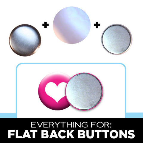 Flat back button parts for crafters