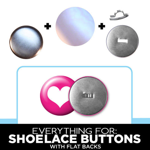 "1.25"" Everything to make Sneaker Buttons with Shoelace Clips from People Power Press"