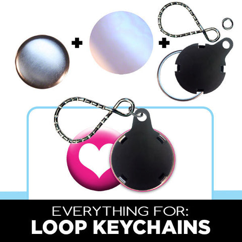 Loop Keyring for button making
