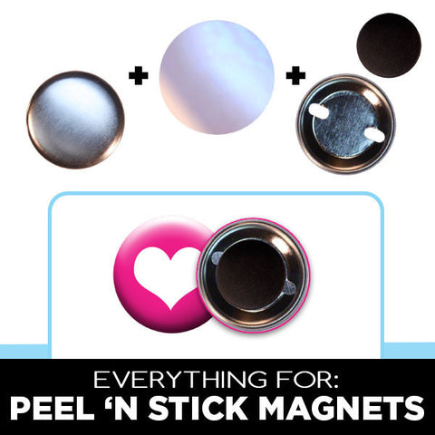 peel 'n stick magnets for 1-1/4 inch button machines
