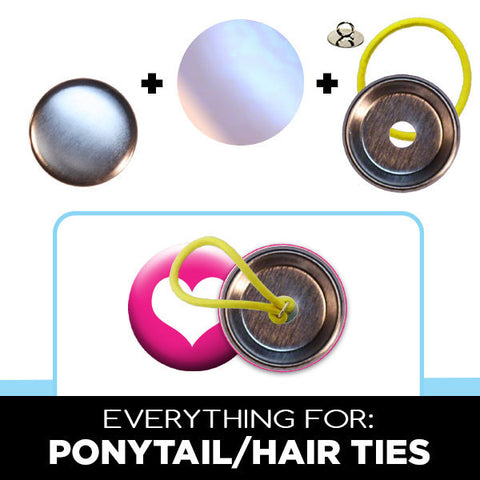 "1-1/4"" button hair and ponytail ties"