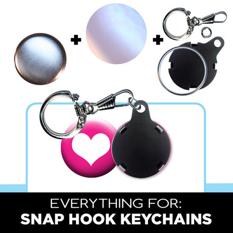 Snap Hook Keyring for button making
