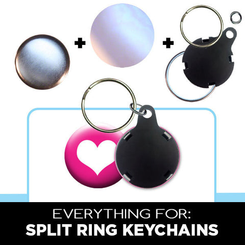 "1-1/4"" split ring keychain parts"