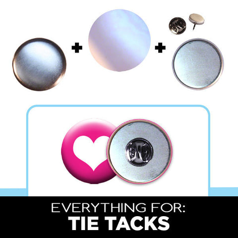 "1-1/4"" button tie tacks"