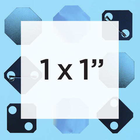 1 x 1 inch square button parts