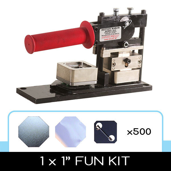 1 x 1 inch square button fun kit