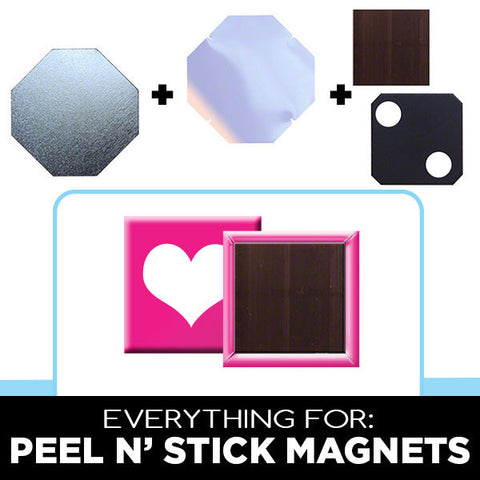 1 x 1 inch peel n stick magnets