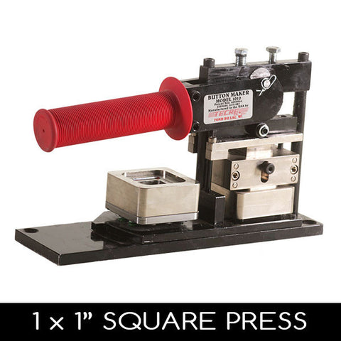 1 x 1 inch square button maker press machine