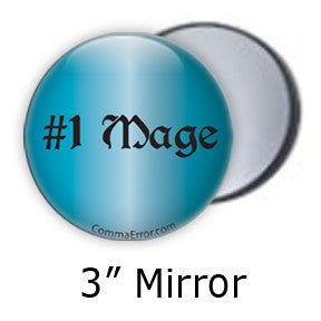 #1 Mage - Blue Mirror. Part of the Comma Error Geek Boutique collection on People Power Press.