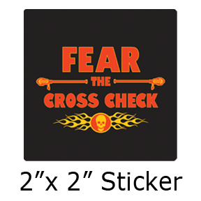 "Fear The Cross Check ""Black"" - Lacrosse/Sports"