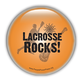 Lacrosse Rocks button design