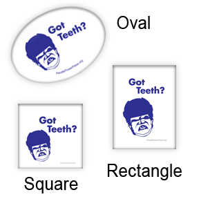 Hockey Square, Oval and Rectangular Button Designs