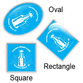 Hockey Square, Oval, Rectangle button design