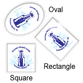 Hockey Oval, Rectangular and Square button design