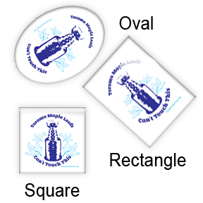 Hockey Square Oval Rectangle Button Design