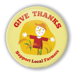 scarecrow button design  thanksgiving, fall, autumn, harvest festival, support local farmers