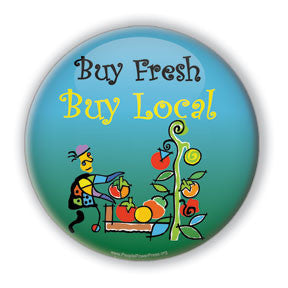 Buy Fresh, Buy Local, Button design service