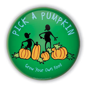 pumpkin button design services,  harvest festival, support local