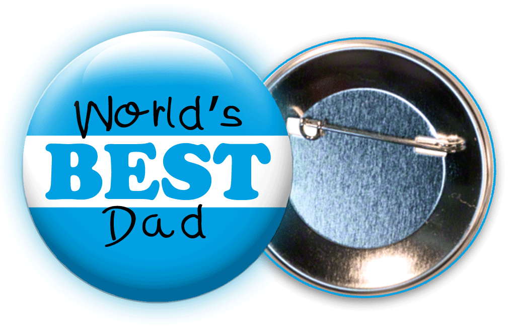 World's Best Dad - Father's Day Button