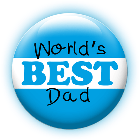 World's Best Dad. People Power Press. Button Making. Custom Buttons