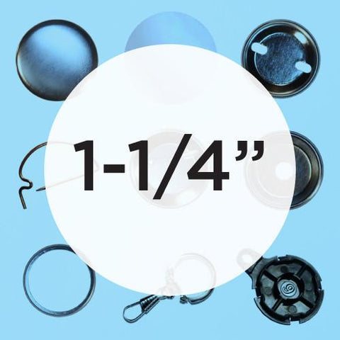 "SPECIAL*** SAMPLE PACK: Try 50% OFF 1-1/4"" Button Parts - 25's"