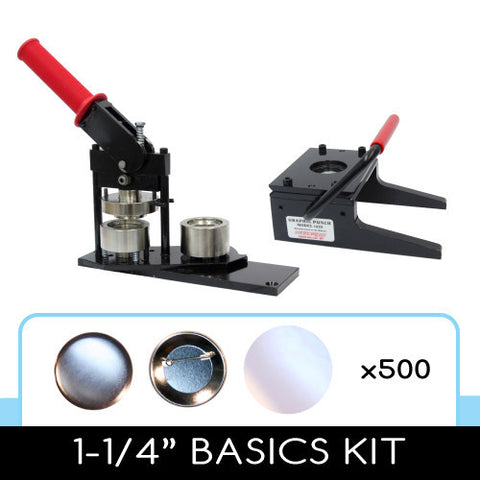1-1/4 inch button maker, graphic paper punch cutter and 500 button parts