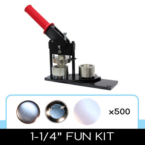 1-1/4 inch button maker and 500 button parts