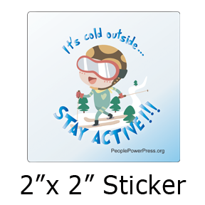 skiing sticker design
