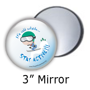 skiing mirror design