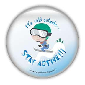 skiing button design