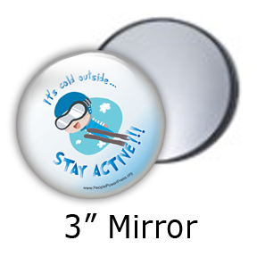 Ski Jump Sports Custom Mirror Design