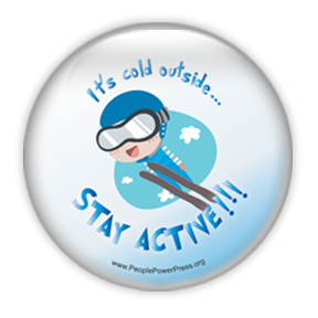 Ski Jump Sports Custom Button Design