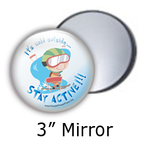 slallom skiing winter fitness sports design for mirrors
